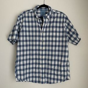 L.L. Bean plaid short sleeve button down